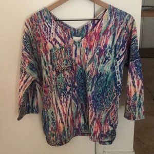 Chico's multi-color shirt